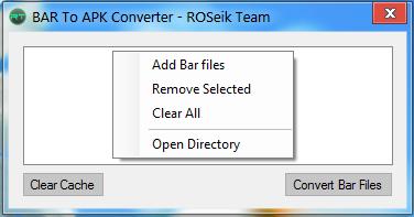Convert Bar Files to APK - ROSeik Team - BlackBerry Forums