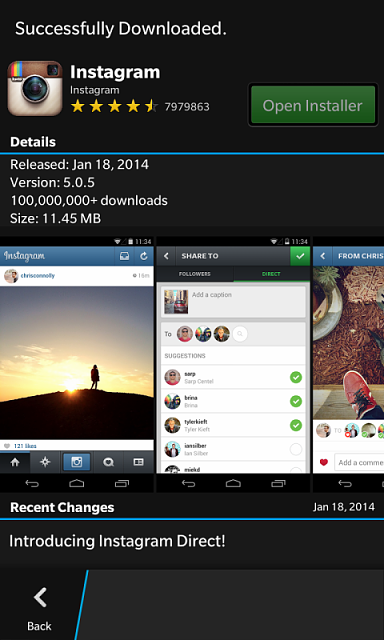 Instagram update v 5 0 5 - BlackBerry Forums at CrackBerry com