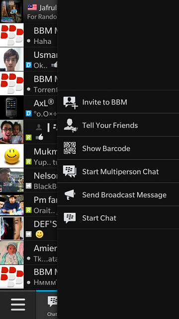 I just updated my bbm on my Z10 and found out that the scan to invite icon disappeared!! Please help-img_20140627_223313.png