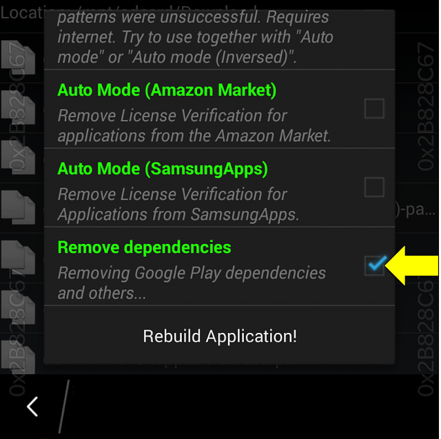 How to remove Google Play services dependencies with Lucky Patcher