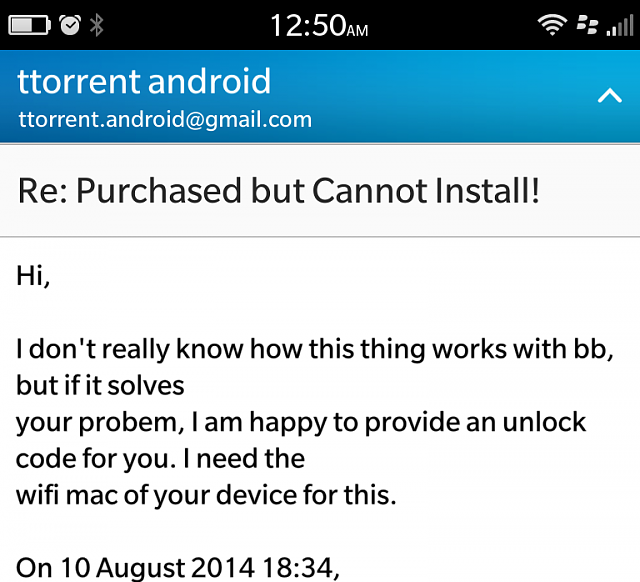 ttorrent unlock code android