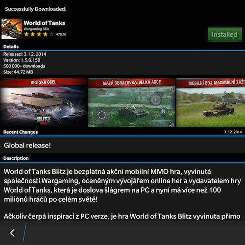 Does new World of Tanks Blitz work on BB10? - BlackBerry