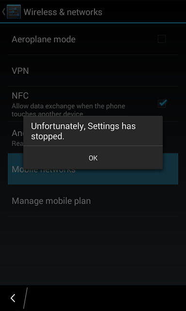 Android runtime not working properly. Mobile network not ...