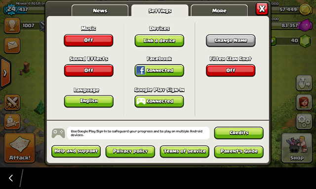 google play store app clash of clans