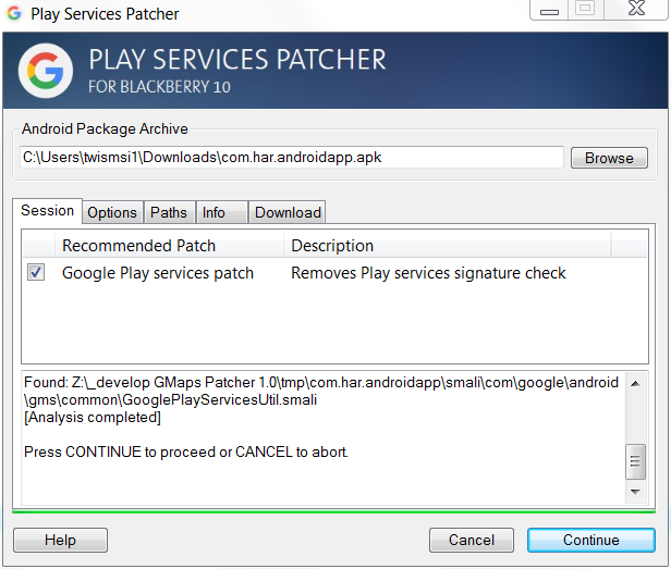 How to patch Android Apps depending on Google Maps and Google Play Services-play-services-patcher.png