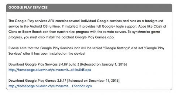 Why am I unable to install Google Play services