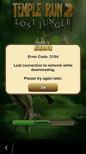 Error 2104 or 2201 for Temple Run 2 Lost Jungle ...