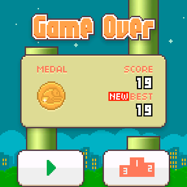 Flappy Bird High Score Iphone Screenshot your high score in