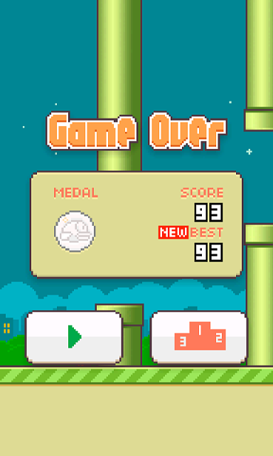 Flappy Bird High Score Screenshot Iphone 4 Screenshot your high score