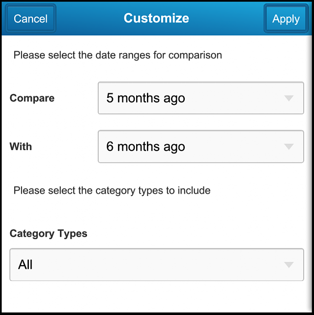 Cashalyst - Expense Tracking App - Now with Q10 and Z10 portrait support-q10_009_summarycustomize.png