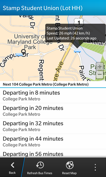 Where's My Bus? Real-time transit info for the NextBus system-screenshot5.png