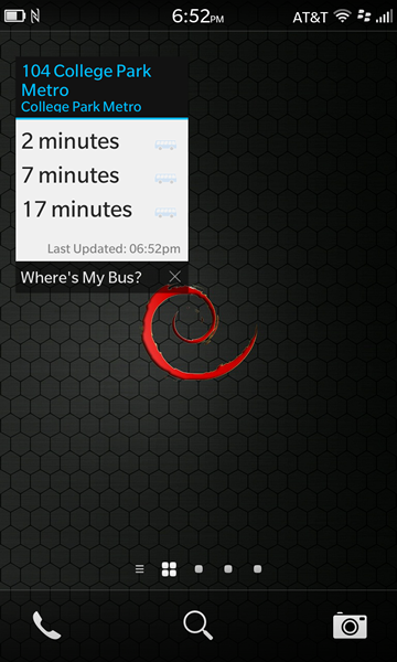 Where's My Bus? Real-time transit info for the NextBus system-screenshot6.png