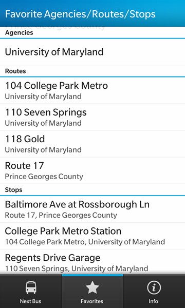 Where's My Bus? Real-time transit info for the NextBus system-screenshot7.png