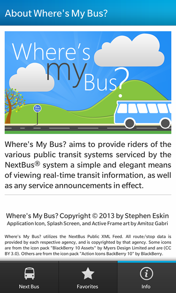 Where's My Bus? Real-time transit info for the NextBus system-screenshot10.png