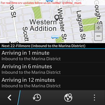 Where's My Bus? Real-time transit info for the NextBus system-screenshot13.png