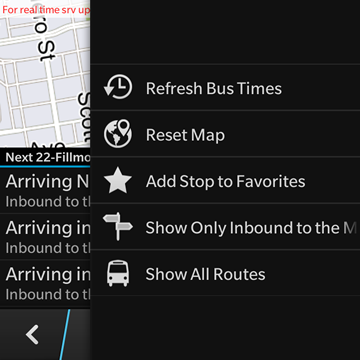 Where's My Bus? Real-time transit info for the NextBus system-screenshot14.png