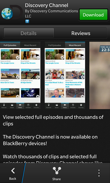 Discovery Channel App - BlackBerry Forums at CrackBerry com