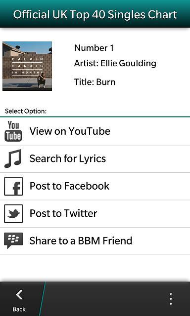 UK Top 40 Music Singles Chart - BlackBerry Forums at CrackBerry com