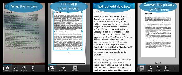 Scan to Text OCR and PDF scanner for BlackBerry 10 is on