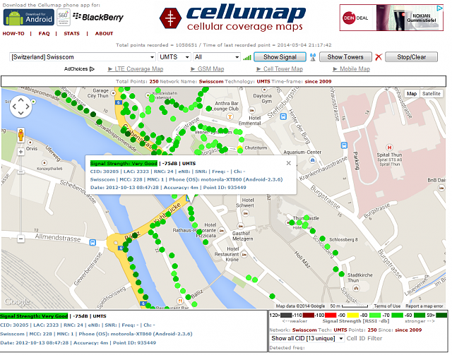 Cellumap Map Your GGG Network Coverage BlackBerry Forums At - 4g network map