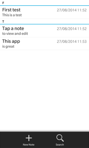 Memo Notes Pro for BlackBerry 10-screen1.png
