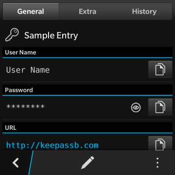 KeePassB 2 - Native KeePass implementation for BlackBerry 10-04a-entry-general.png