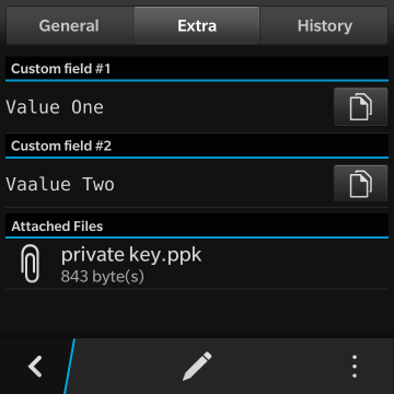 KeePassB 2 - Native KeePass implementation for BlackBerry 10-04b-entry-extra.png