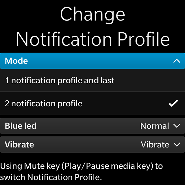 BB10] Redeem code for Change profile - App using mutekey