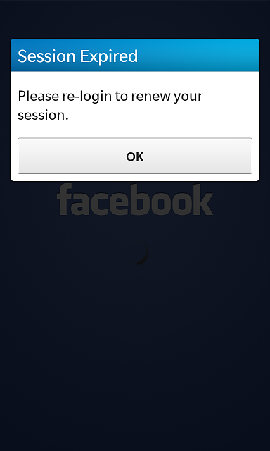 Account settings facebook not working