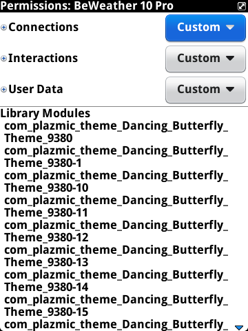 'BeWeather 10' app on BB world links to 'Dancing butterfly theme'.-capturenux-2014-09-02-09.21.30.png