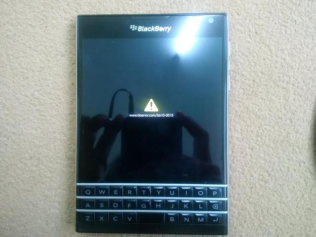 BlackBerry Passport hard reset error - BlackBerry Forums at