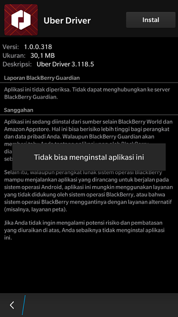I cannot install a patched uber driver apk - BlackBerry Forums at ...