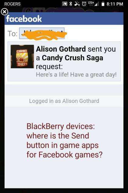 Sending Facebook friend requests via game apps - BlackBerry Forums