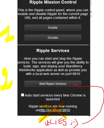 how to use ripple emulator chrome