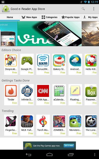 Good E Reader App Store Auto Design Tech