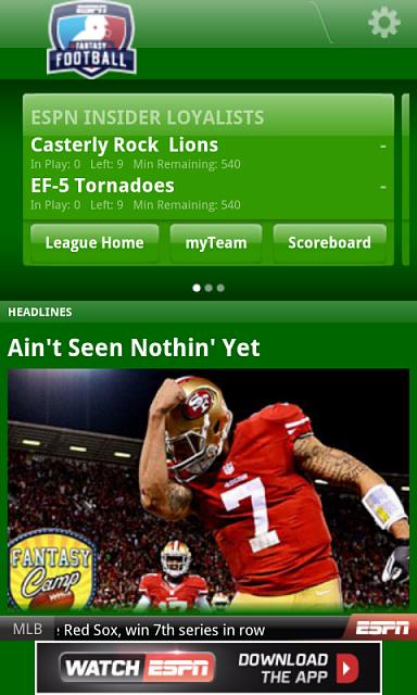 ESPN Fantasy Football 2013 App - BlackBerry Forums at