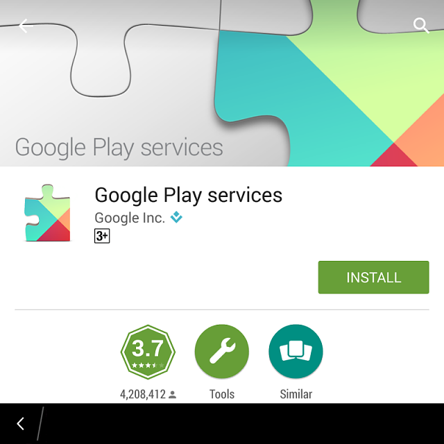 Google play service required to install most of the apps Google play app