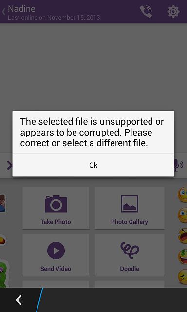 Unable to add pictures and vidoes in BB10 10.2.1.1055-viber.png