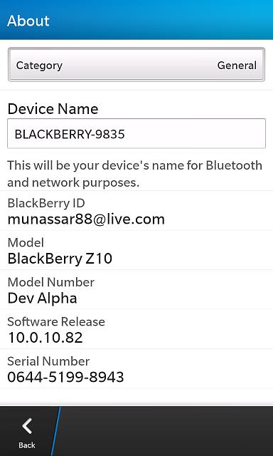 No bbm video on my Z10 and my Z10 model number: DEV ALPHA-img_00000208.jpg