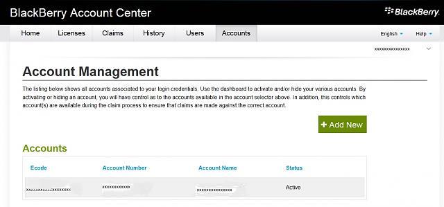 ... BES 10 EZ Pass Claims Through BlackBerry Account Center, Query-blackberry-account-