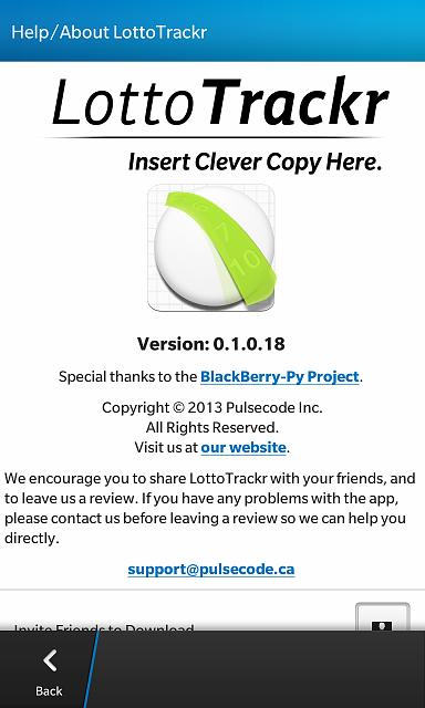 LottoTrackr - New App for BlackBerry 10 - Beta testers needed!-help.jpg