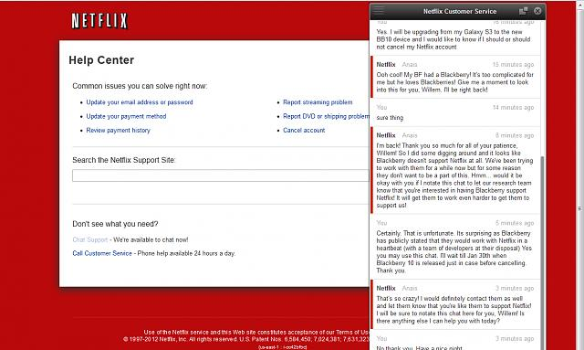 Netflix Customer Support Answer Regarding BB10 - BlackBerry Forums ...