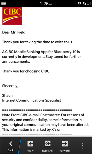 Scotiabank app - BlackBerry Forums at CrackBerry com