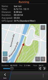 CascaRun, a native BB10/Cascades Sports Tracking application, is now available!-replay1.png