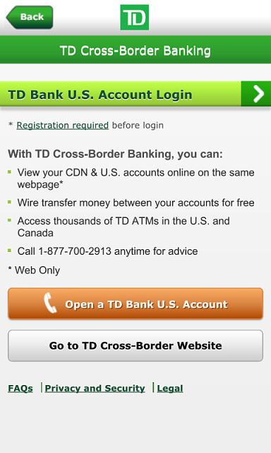TD Bank App updated for US Cross Border Banking - BlackBerry