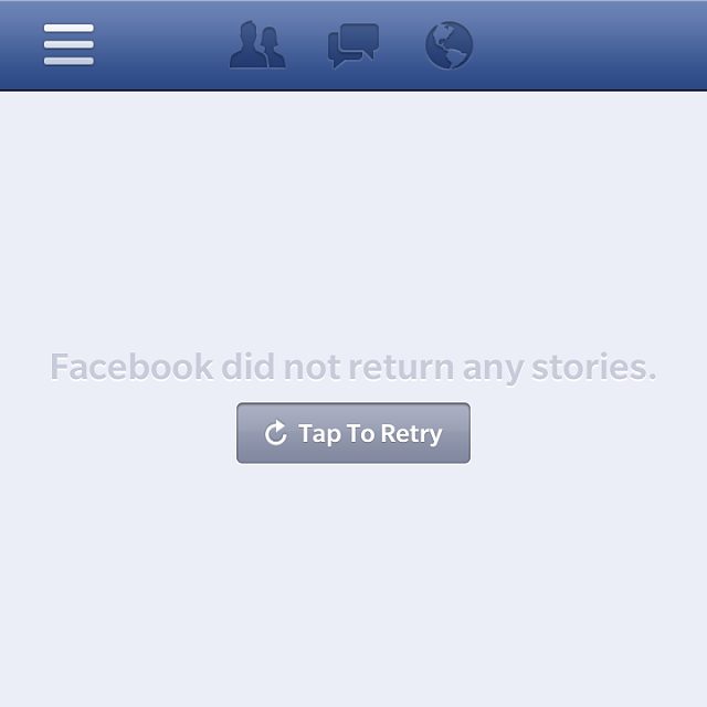 Blackberry facebook app not updating