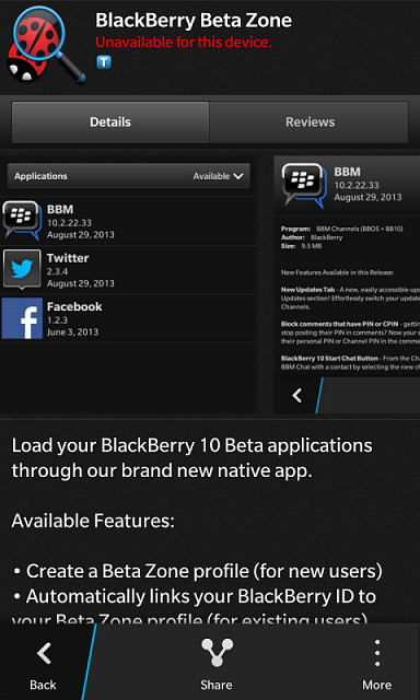 Download BlackBerry Beta Zone Apps OTA - BlackBerry Forums