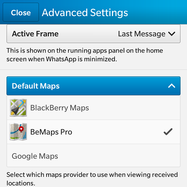 How to set WhatsApp to use BeMaps 10 Pro-img_00000679.png