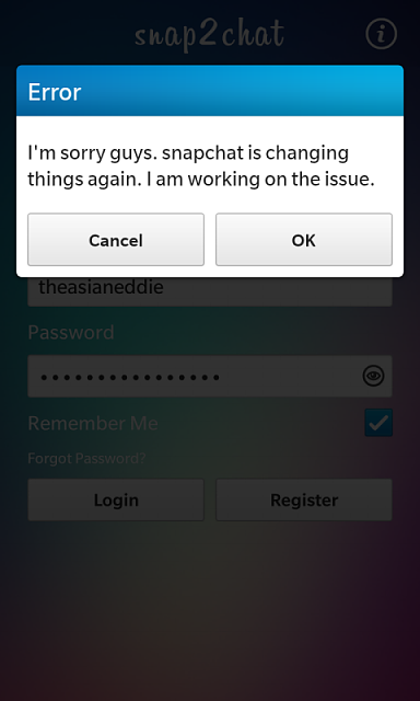 Official snap2chat - Native snapchat Client for BlackBerry 10 Beta ...