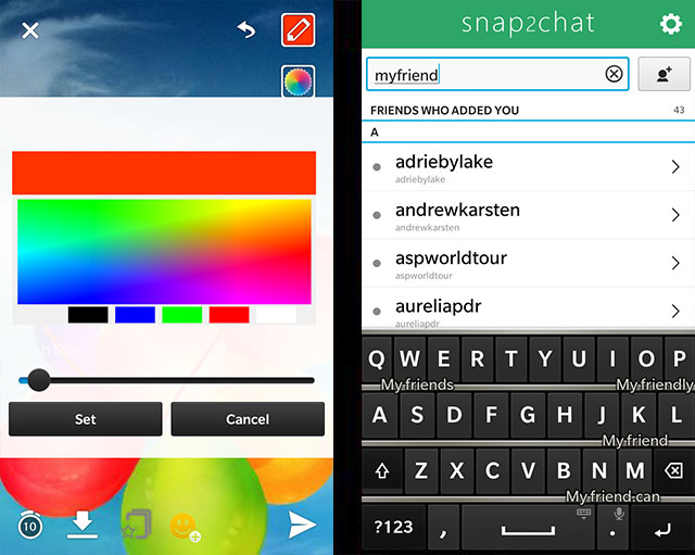 Official snap2chat - Native snapchat Client for BlackBerry 10 Beta Thread-7.jpg
